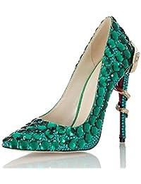 Xyh Zapato de Mujer Primavera Verano Comodidad Novedad Tacones Zapatos para  Caminar Plataforma Joyería Talón Punta 5e7e72ab3ba7