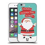 Head Case Designs Babbo Natale Cartoni di Un Felice Natale Cover Morbida in Gel per Apple iPhone 6 / 6s