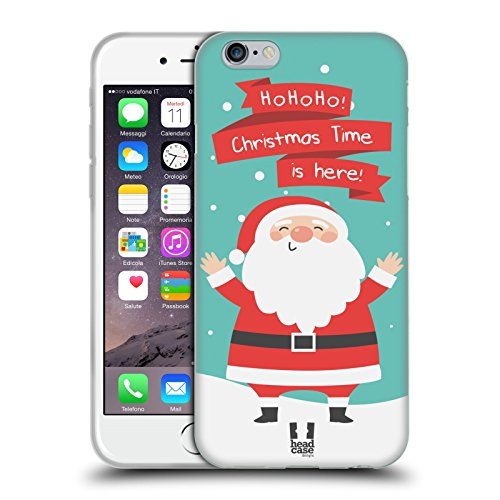 Head Case Designs Angelo Cartoni Di Un Felice Natale Cover Morbida In Gel Per Apple iPhone 6 / 6s Babbo Natale