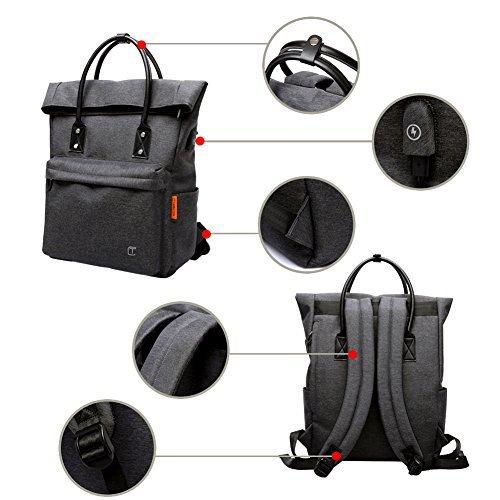 91c473477230d6 Compra a Vicenza Zaino Antifurto Zaino PC Portatile Roll-top impermeabile  Backpack Casual Zaino in Nylon Daypack Elegante per Uomo Studente Donna  Lavoro, ...