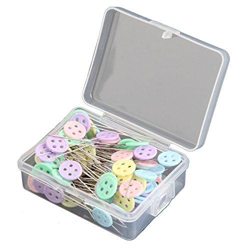 Patchwork-Stecknadeln mit Blumenkopf in verschiedenen Farben, Zubehör zum Nähen, für Handwerkskunst, 100 Stück Knopf -