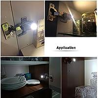 10 unds luz led para bisagras encienden al abrir y apagan al cerrar armarios, alacena
