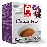 CB-LVZZ FORTE 20% Arabica 80% Robusta | TIZIANO BONINI kompatibel Lavazza A Modo Mio ® 16 Kapseln alternative Kaffeekapsel Ristretto Espresso Cappuccino Milchkaffee Café Crème Latte Macchiato
