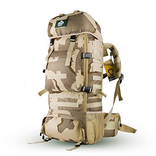 Trekkingrucksäcke,Skysper 50L 60L 65L 70L Hohe Qualität Wasserdicht Outdoor Sports Travel Wanderrucksäcke Trekking rucksäcke 70L-Mehrfarbig
