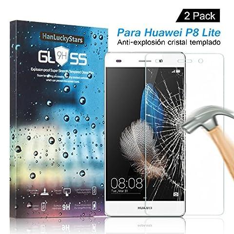 [2 Pièces] Verre Trempé Huawei P8 Lite, HD Clair Ultra