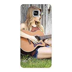 Premium Girl Guitar Back Case Cover for Galaxy A7 2016