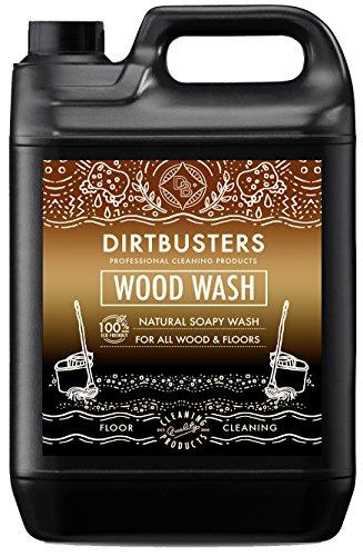 Dirtbusters, detergente ecologico per legno e pavimenti in legno, a base di sapone, 5 litri giallo