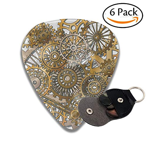 Wxf Style Of Steampunk Mechanical Design Engineering Theme Stylish Celluloid Guitar Picks Plectrums For Guitar Bass 6 Pack.96mm