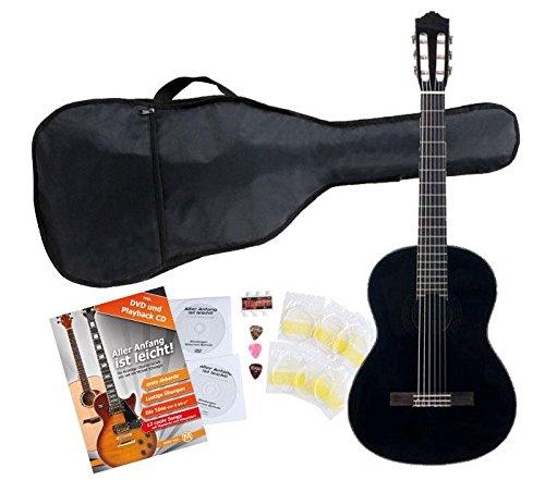 Yamaha C40 BL Guitarra clásica color negro (Incluida funda)