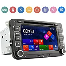 Ouku LightInTheBox - Radio para coches (DVD, GPS, no incluye mapas GPS, para VW Golf 5, 6, Passat, Tiguan, Touran, Sharan, Polo, Caddy, Seat, Eos)