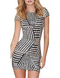 1d675e1549a974 Suchergebnis auf Amazon.de für: pailletten silber kleid - 52 / Damen:  Bekleidung