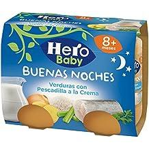 Hero Baby - Babynoches Verduras Pescadilla a la Crema - Pack de 6 x 380 g - Total 2280 g