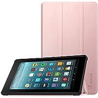 Fintie Hülle für Amazon Fire 7 Tablet (7-Zoll, 7. Generation - 2017) - Slim Cover Lightweight Schutzhülle Tasche mit Standfunktion und Auto Schlaf/Wach Funktion, Roségold