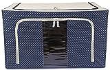 UberLyfe Blue 66L Foldable Cloth Storage Box with Steel Frames - 1pc (UW-475-BLCS66L)