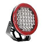MCTECH 185W LED Auto Licht LED Flutlicht Reflektor Scheinwerfer Arbeitslicht Arbeitsscheinwerfer Zusatzscheinwerfer SUV, UTV, ATV, Traktor Offroad Scheinwerfer 12V 24V Rückfahrscheinwerfe (Rot)