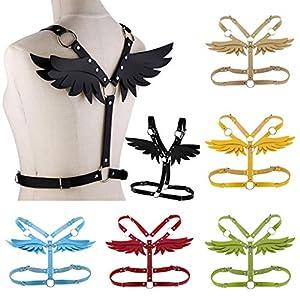 Marico Nahum Damen Leder Angel Body Belt Sexy Fetisch Angel Wings Bondage Taillengürtel