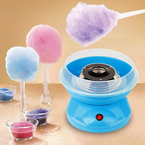 Mini Electric Cotton Candy Maker Marshmallow DIY Machine Children Snack Maker,Sky Blue