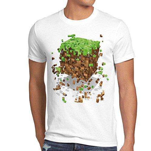 A.N.T. Exploding Cube Herren T-Shirt block würfel spiel game, Größe:L