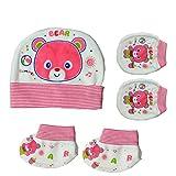 Baby Basics - Cap Mitten Booties - Pink