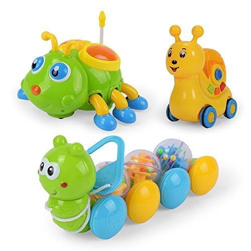 NextX Juguetes del Coche 3pcs con la Luz y la Música Juguete del Vehículo de la Construcción del Coche Plástico Juguete para Bebés Niños