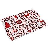 ODJOY-FAN Weihnachten Dekoration Teppich Weihnachten Fußboden Eingang Tür Bad Matte Innen Badewanne Teppich Fußmatten Dekor 23,6 x 15,7 Zoll(J,1 PC)