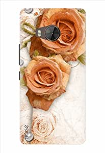 Noise Designer Printed Case / Cover for HTC One ME / Floral / Pearl With Rose Design - (GD-432)