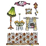 Marianne Design Clear Stamps Don and Daisy at Home, Autre, Noir, 9.5 x 17.0 x 0.5 cm