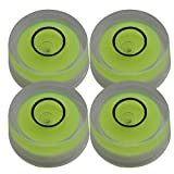 Wasserwaage Durchmesser 12x6mm Runde Messwerkzeug Oberfläche Leveler für Plattenspieler Plattenspieler Packung mit 4