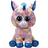 TY - Beanie Boo's Blitz, unicornio, 40 cm, color azul (United Labels Ibérica 36890TY)