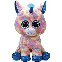 TY - Beanie Boos Blitz, peluche unicornio, color azul, 40 cm (United