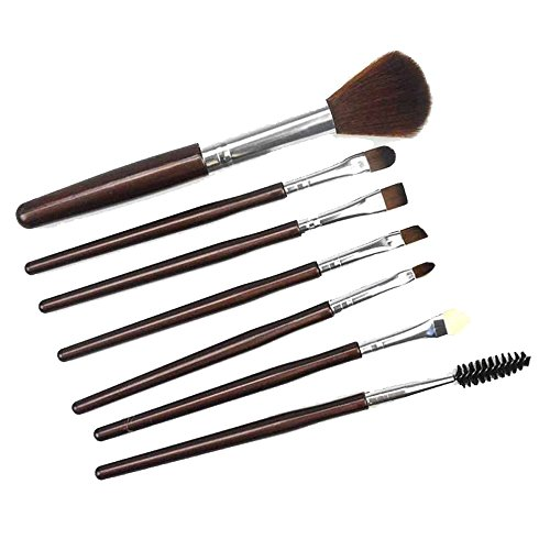 Cenlang Make Up Eye Brush Set -7 Pcs Professional Cosmetic Brush Set Tools Toiletry Kit,Premium Synthetic Foundation Blending Brush Face Powder Blush Concealers Eye Shadows Make Up Brushes Kit (Finish Powder Brush)