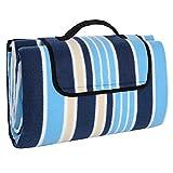 ZHBO Picknickdecke Wasserdichter Unterseite Stranddecke 200 x 150 cm, tragbar Faltbare Outdoor-Decke für Strandwanderungen Reise Camping