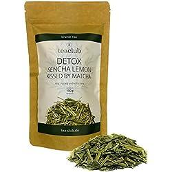 Japanischer Grüner Tee mit Matcha und Zitronengras 100g / SENCHA LEMON fruchtig-mild / Loser Grüntee mit natürlichem Koffein von TeaClub