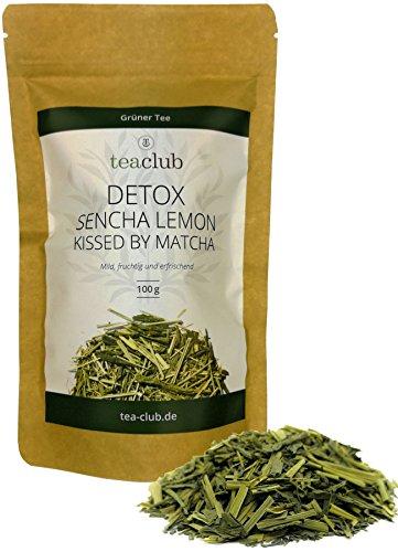 Sencha Lemon Japanischer Grüner Tee mit Matcha und Zitronengras Lose 100g, Loser Grüntee aus Japan mit natürlichem Koffein, TeaClub