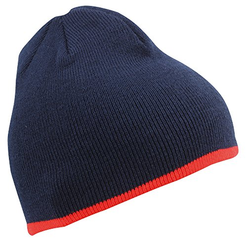 MB CAPS - Bonnet - Homme Multicolore Navy / red