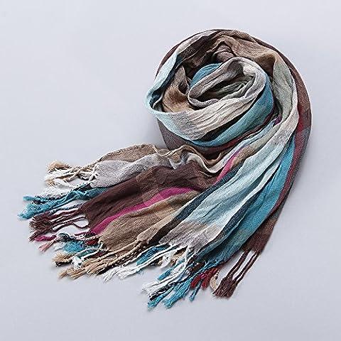 OME&QIUMEI Bunt Karierten Schal Schal Schal Winter Warm