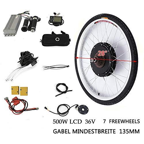 "WUPYI2018 36V 500W 28\"" Elektro-Fahrrad Kit,E-Bike Hinterrad Umbausatz Kit mit LCD Display"