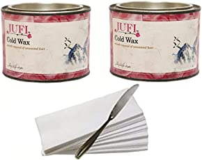 Jufi cold wax for hair remover 200gm+200gm with waxing strip one waxing knife