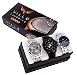 #6: Vills Laurrens Analogue Multicolor Dial Combo Of 3 Men's & Boy's Watch - Vl-1111-1112-1113