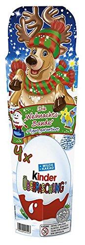 Preisvergleich Produktbild Kinder Überraschung Weihnachten 4er,  2er Pack (2 x 80 g)