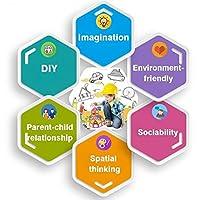 Condis 95 Piezas Bloques de Construcción Magnéticos para niños, Juegos de Viaje Construcciones Magneticas imanes Regalos cumpleaños Juguetes Educativos para Niños Niñas de 3 4 5 6 7 8 Años de QM