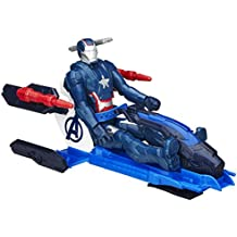 Marvel Avengers Titan héroe de la serie Iron Patriot Figura con Arco Propulsor Jet Vehículo (B1491)