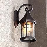 MOMO Kontinentale Retro- Außenwand-Lampen-wasserdichte Garten-im Freien beleuchtet Lampen-kreative amerikanische Balkon-Treppe-Fassaden-Wand,Antike Farbe