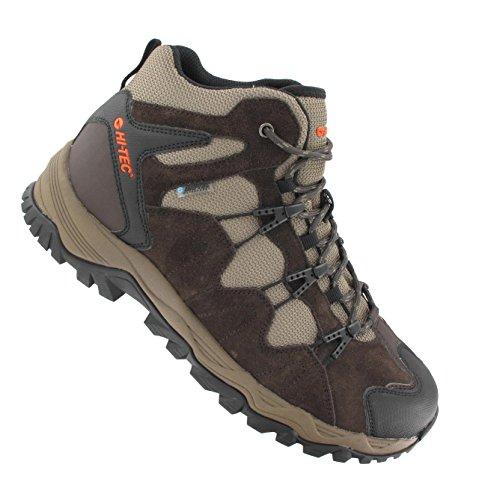 Hi-Tec Multi Terra Sport Mid Wp Herren Trekking- & Wanderstiefel Braun - Marron (Dark Chocolate/Dark Taupe/Tangelo)