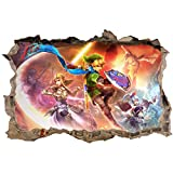 Stickers 3D Zelda Réf 23623-120x80cm