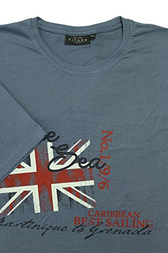 Kitaro Herren T-Shirt Blau