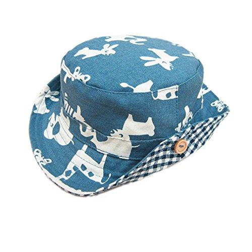 ELE GENS Baby Kinder Jungen Sonnenhut Fischerhut Cowboy Hut Sommerhut Tier (44cm) (Cowboy-hüte Für Jungen)