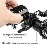 Leynatic-Luci-Bicicletta-LED-Luci-per-Bici-Ricaricabili-USB-4400mah-Batteria-Caricata-Super-Bright-LED-1200-Lumen-Set-di-Luci-Anteriori-e-Posteriori-per-Biciclette-4-modalit