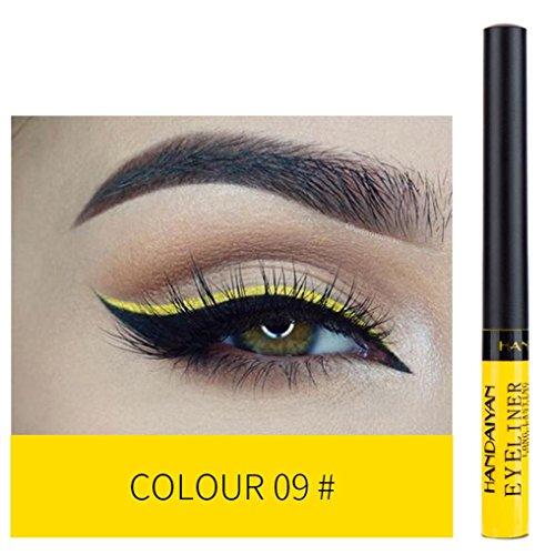 Cooljun Eyeliner,12 Couleurs Palette de Fard à Paupière Waterproof Durable mode Makeup Palette Stylo d'ombre à paupières (I)