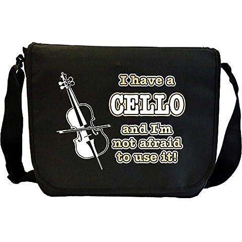 Cello Not Afraid Use - Sheet Music Document Bag Borsa Spartiti MusicaliTee
